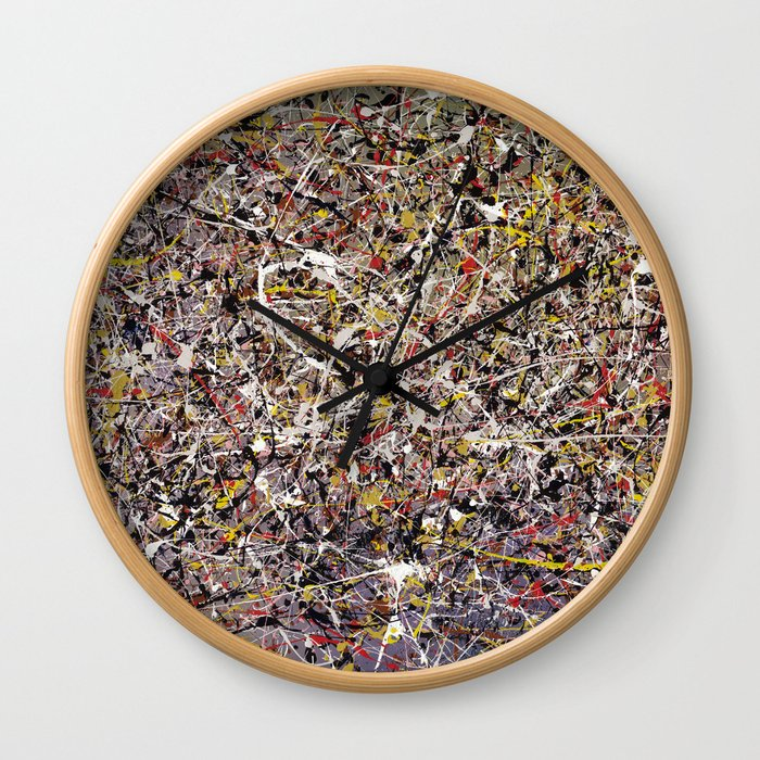 Intergalactic - abstract painting by Rasko Wall Clock