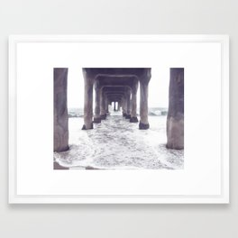 dreaming at the pier Framed Art Print