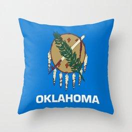 flag of oklahoma-Oklahoma,south,Oklahoman,Okie, usa,america,Tulsa,Norman,Broken Arrow Throw Pillow