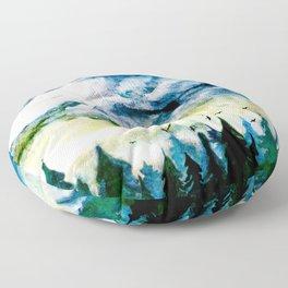 Mountain Landscape Floor Pillow