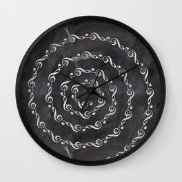 Sol key swirl on chalkboard Wall Clock