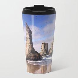 Wizard's Hat at Bandon Beach, Oregon Travel Mug