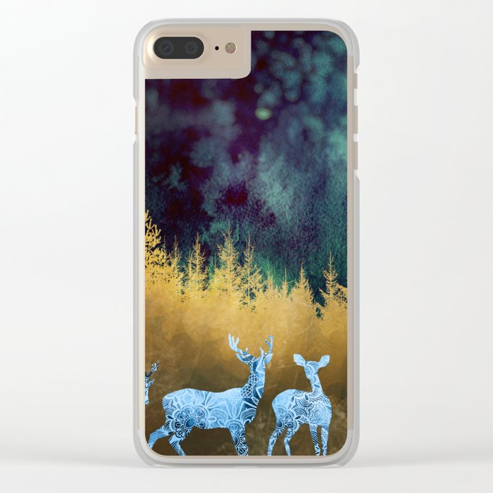 Midnight Meeting Clear iPhone Case