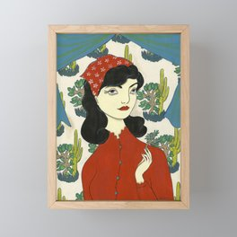 Found gentle, studied slow Framed Mini Art Print