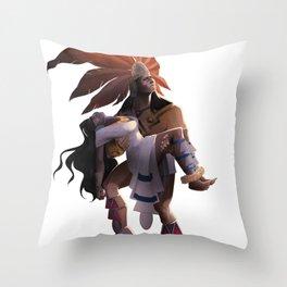 iztaccihuatl y popocatepetl Throw Pillow