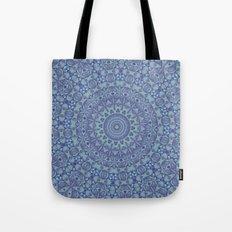 Shades of blue mandala Tote Bag