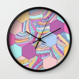 BRAIDSHEXSUMMER Wall Clock
