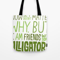 Aligator Friends Tote Bag