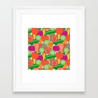 vegetables Framed Art Prints featuring Vegetables by Valendji