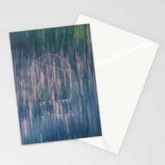 A Little Rain Stationery Cards