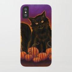 Cat Spirit of Halloween Slim Case iPhone X