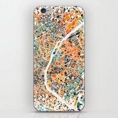 Paris mosaic map #3 iPhone & iPod Skin