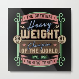 Sports - Heavyweight - The Greatest Metal Print