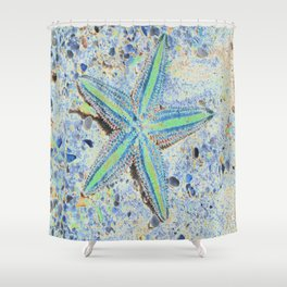 Starfish Abstract Shower Curtain