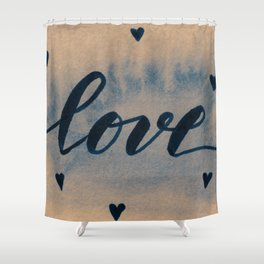 Valentine's Day Watercolor Love – neutral Shower Curtain