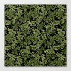 Frond of You - Black Canvas Print
