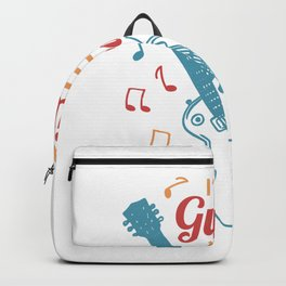 Ich bin ein Gitarrenheld baby Backpack