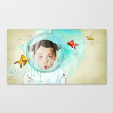 Fish Girl Canvas Print