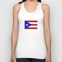 puerto rico Tank Tops featuring puerto rico country flag star by tony tudor