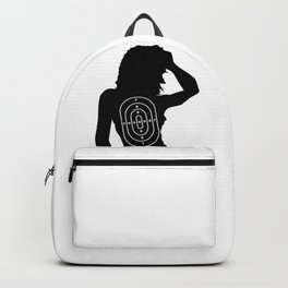 Female Human Shape Target Backpack
