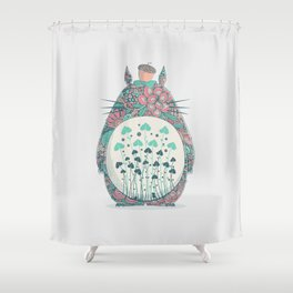 Unexpected Encounter Shower Curtain