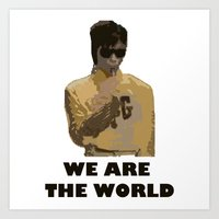 Prince is the World Art Print