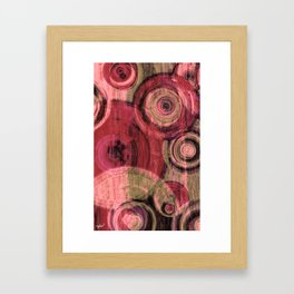 Red Round #3 Framed Art Print