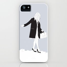 Winter Fashion Girl in the Snow iPhone Case