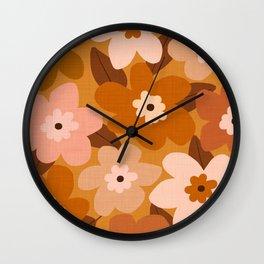 Blossom - bohemian Wall Clock