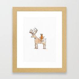 Deer Suit, Cat Suit Framed Art Print