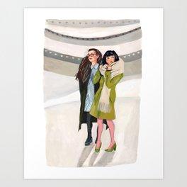Ladies at the Museum Art Print