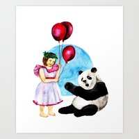 balloons Art Prints featuring Balloons by Anna Shell