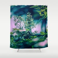 insect Shower Curtains featuring Little Insect by Elizabeth Padilla