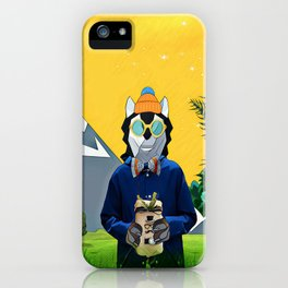 Wolf with the gift iPhone Case