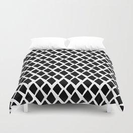 Rhombus Black And White Duvet Cover