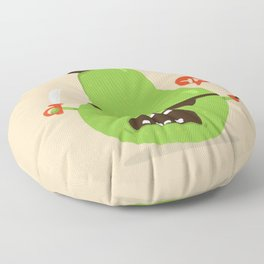 Pear-ate a.k.a The Angry Pirate Floor Pillow
