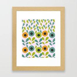 Cheery spring flowers Framed Art Print