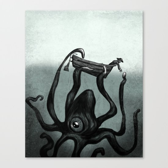 Captain and the Seamonster  Canvas Print