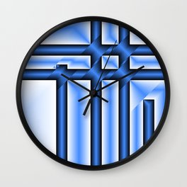 abstract pattern in metal Wall Clock