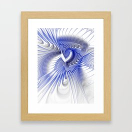 blue elegance Framed Art Print
