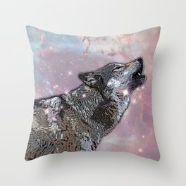 Howl at me Throw Pillow