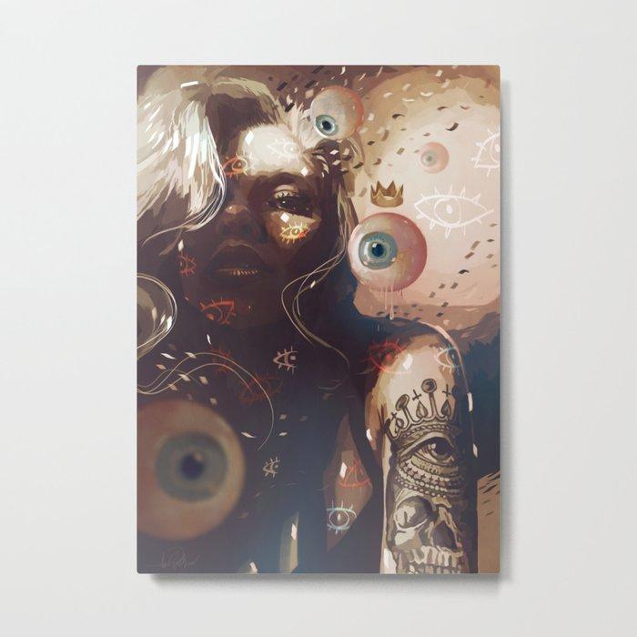 EYES QUEEN Metal Print