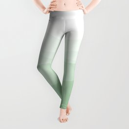 Spring In Big Sur - Soft Green Geometric Abstract Leggings