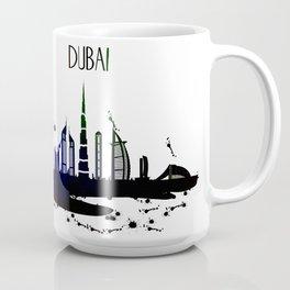 Cool Dubai city skyline view design Coffee Mug