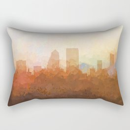 Jacksonville, Florida Skyline - In the Clouds Rectangular Pillow