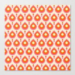 Drops Retro Sixties Canvas Print