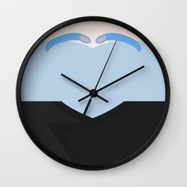 Shran - Minimalist Star Trek: Enterprise - Minimalism - startrek - Andorian - trektangle - trektangl Wall Clock