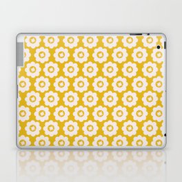 Canary Yellow Retro Floral Laptop & iPad Skin