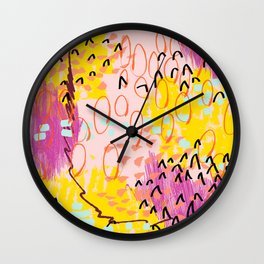 Abstract Spring Pattern Number One Wall Clock