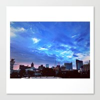 atlanta Canvas Prints featuring Atlanta.  by calvin./CHANCE